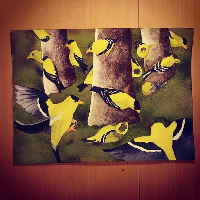 I finally completed the goldfinches!__#w