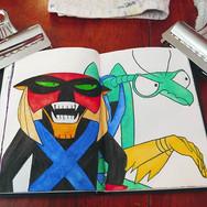 scifi creatures sketchbook. 😂😂😂 #wate