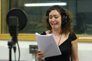 "Camilla Mathias recording ""Wold Wide Web"" by Paddy Gormley"