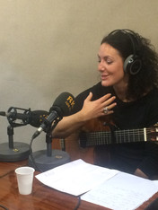 Camilla Mathias on RKB Radio, Barcelona