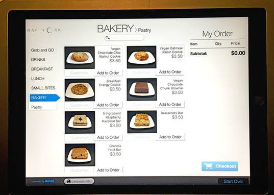 Photographed the cafe menu items to be displayed on the iPad for ordering.