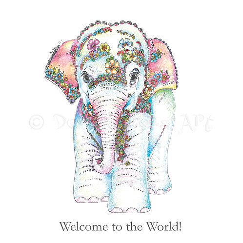 6 x Baby Elephant Welcome to the world [426]