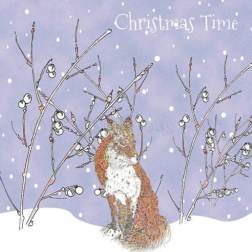 6 x Christmas Fox Christmas Time [408]
