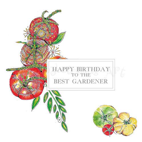 6 x Happy Birthday to the Best Gardener [131]