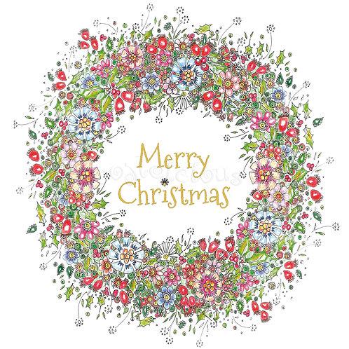 Rosehip Wreath Merry Christmas [216]