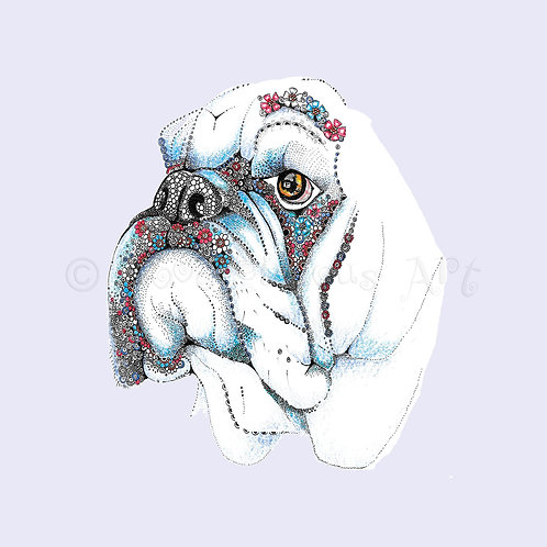 6 x British Bulldog pale lilac [390]
