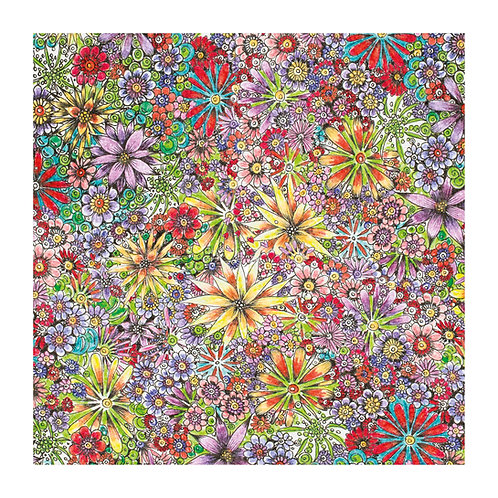 6 x Floral Pattern Purple Flowers [347]