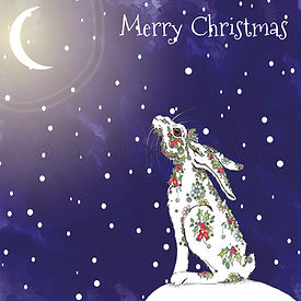 6 x Christmas Hare Merry Christmas [238]