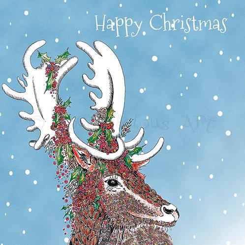6 x Festive Stag Merry Christmas [404]