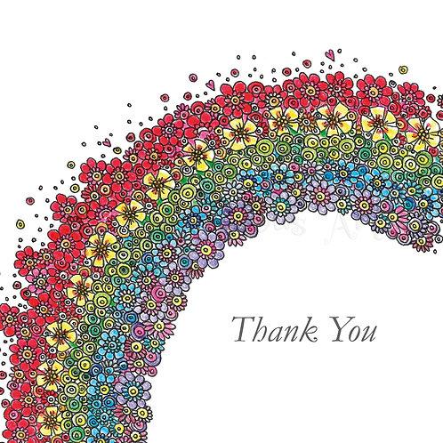 Half Rainbow Thank You [448]