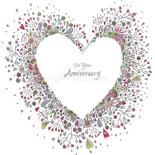 6 x Wedding Heart On Your Anniversary [268]