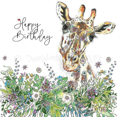 Giraffe Birthday Foiled [552]