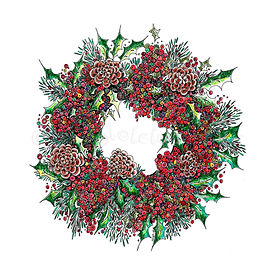 6 x Berry Wreath [058]