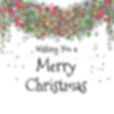 6 x Christmas Garland Merry Christmas [247]
