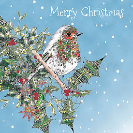 6 x Christmas Robin Merry Christmas [242]