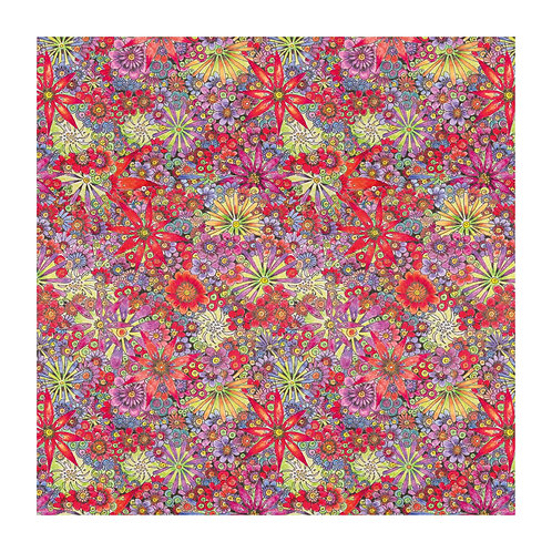6 x Floral Pattern Red Flowers [351]