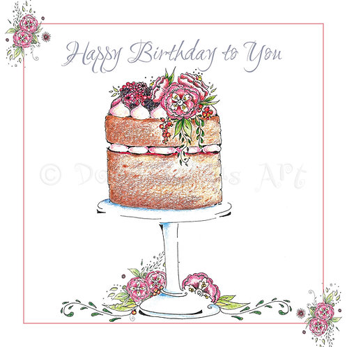 Fruit Sponge Cake Happy Birthday [259]
