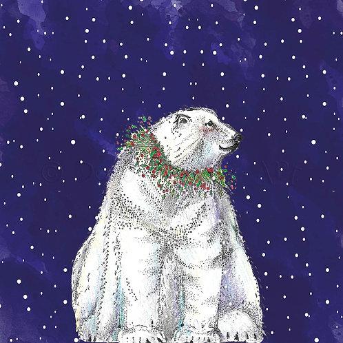 Polar Bear Snowy Sky [465]