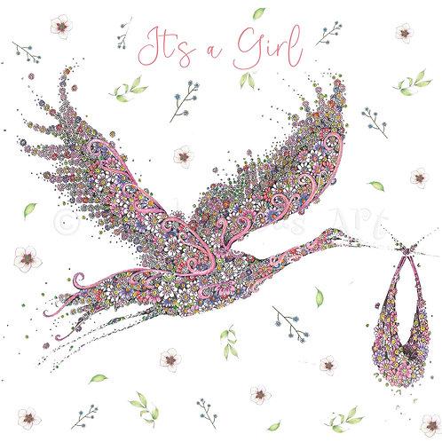 Pink Stork Floral [565]