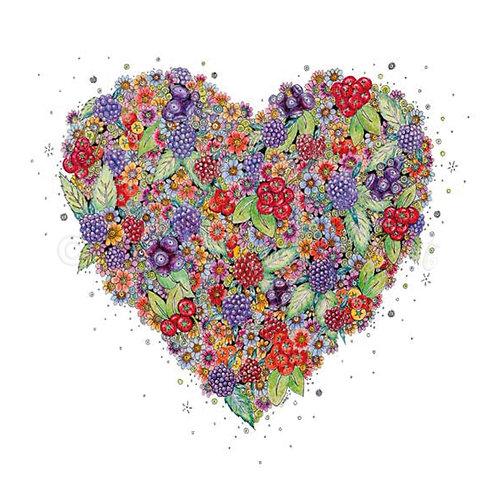 6 x Very Berry Heart [026]