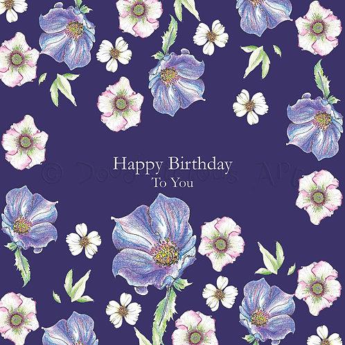 Wild Flower Happy Birthday to you [414]