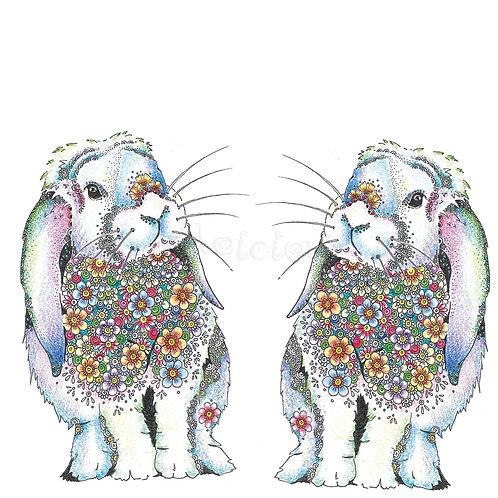 Twin Rainbow Bunnies [477]
