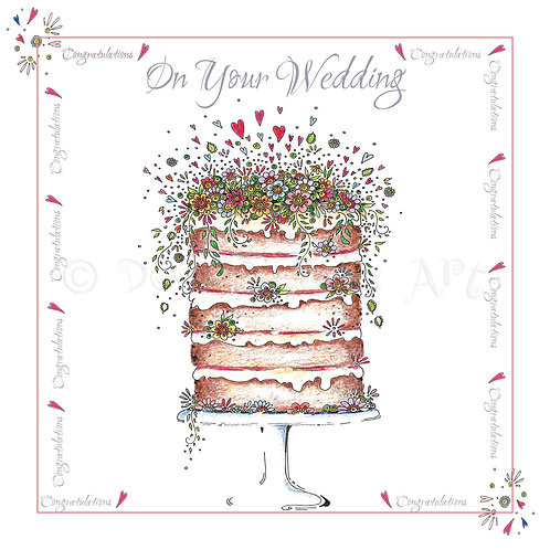 6 x High Tiered Wedding Cake Congratulations [260]