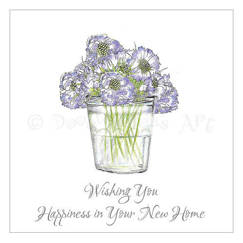 6 x Scabious Jam Jar Happiness New Home [272]