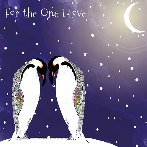 6 x Christmas Penguins For the One I Love [407]