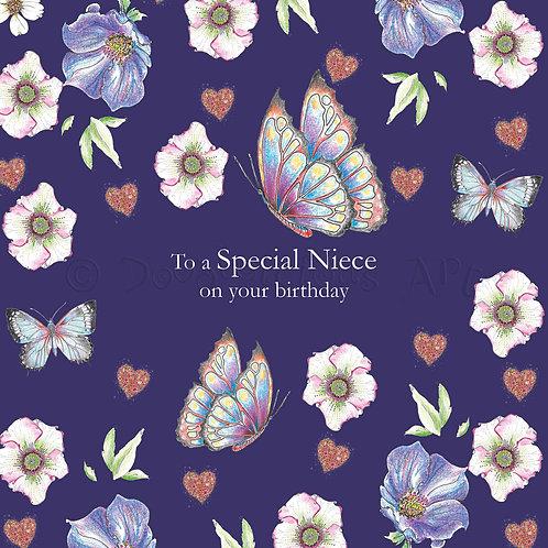 Wild Flower Special Niece Birthday [419]