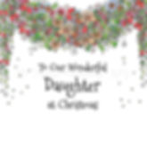 6 x Christmas Garland Daughter [246]