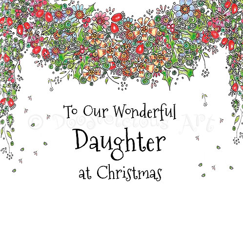 6 x Christmas Garland Daughter [246]