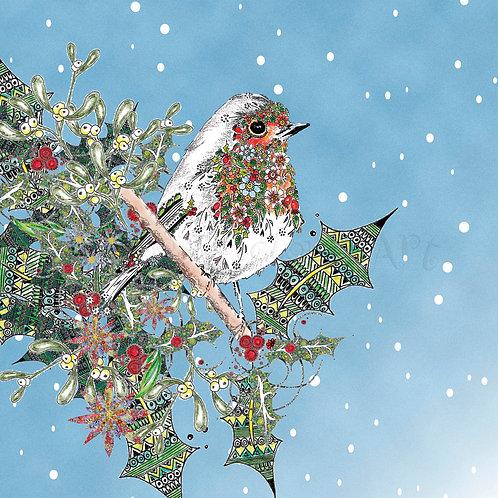 6 x Christmas Robin [213]