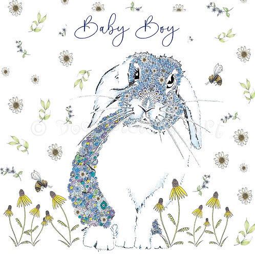 Blue Bunny Floral [559]