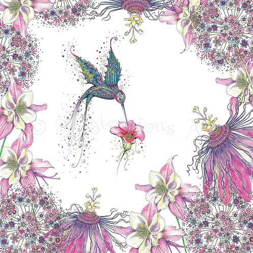 6 x Purple Humming Bird Garden [468]