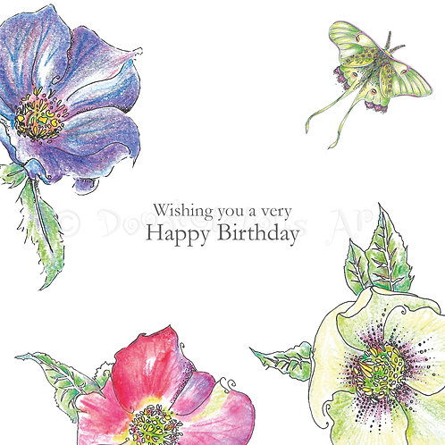 Wild Flower Hellebore Happy Birthday [434]