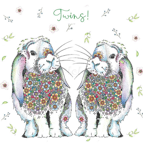 Twin Bunny Floral [561]