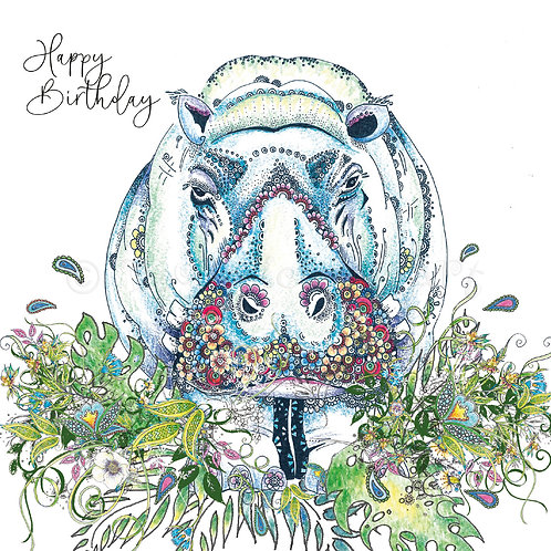 Hippo Birthday Foiled [553]