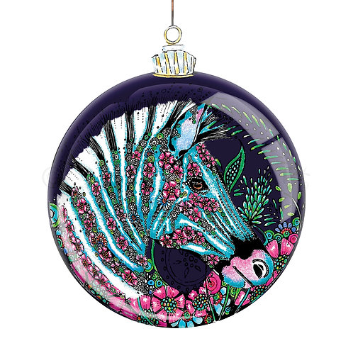 6 x Botanical Bauble Zebra [521]
