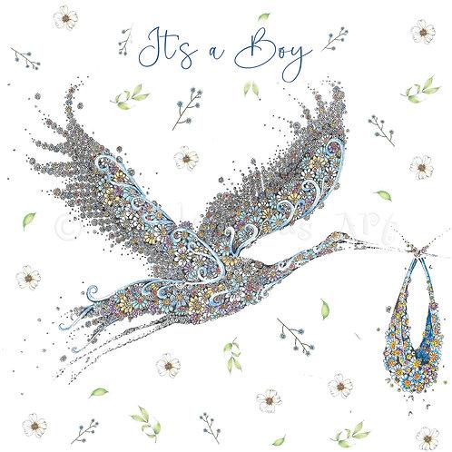 Blue Stork Floral [564]