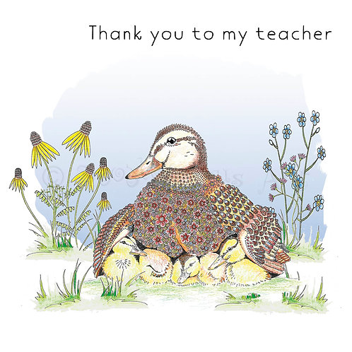 6 x Thank You Teacher Duck and Ducklings [380]