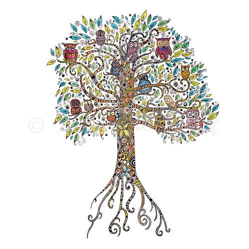 6 x Owl Tree [050]
