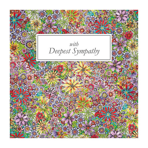 6 x Purple Flower pattern Deepest Sympathy [443]