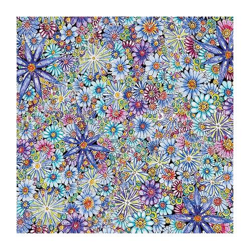 Floral Pattern Blue Flowers [346]