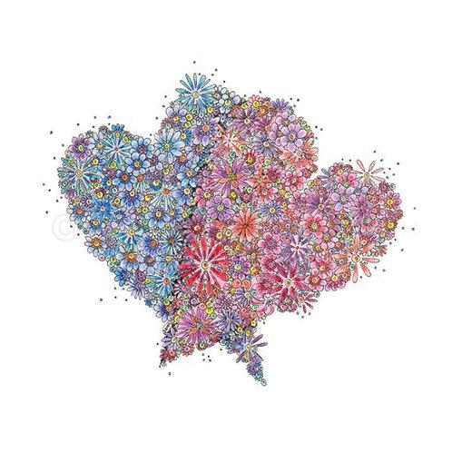 6 x Double Heart [033]