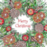 6 x Cinnamon Wreath Merry Christmas [226]