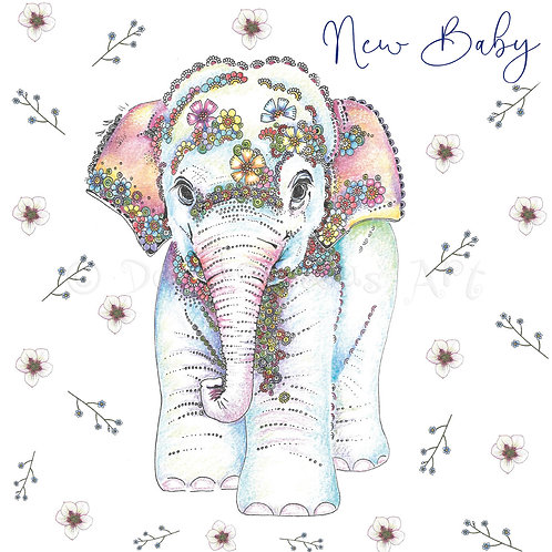 Baby Elephant Floral [562]