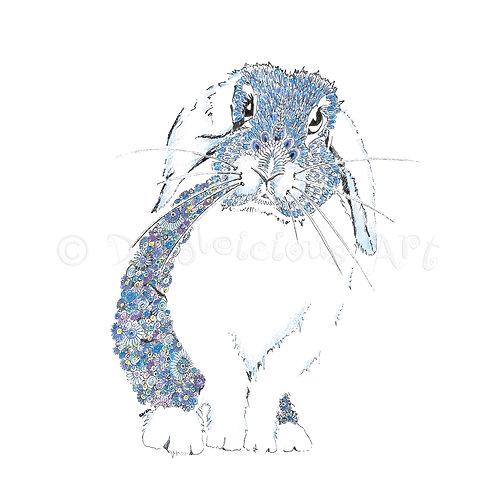 6 x Blue Bunny [045]