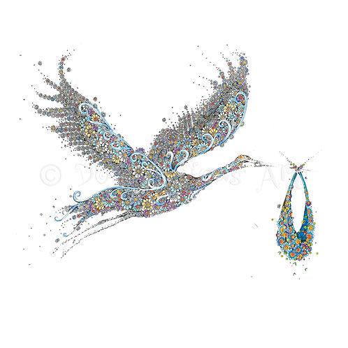 6 x Blue Stork [048]