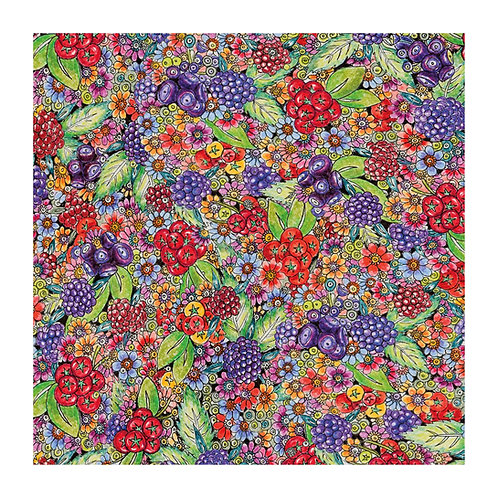 Floral Pattern Berry [345]